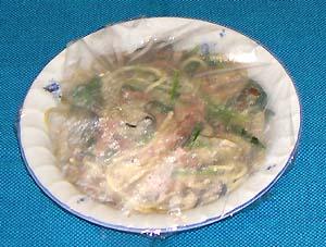 かきとほうれん草のクリームスパゲティ