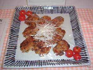 梅納豆のレンコンお焼き